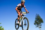 Timo Cooper (pictured) won the men's 55km feature race at the Choc Cow MTB Race today. Photo: oakpics.com