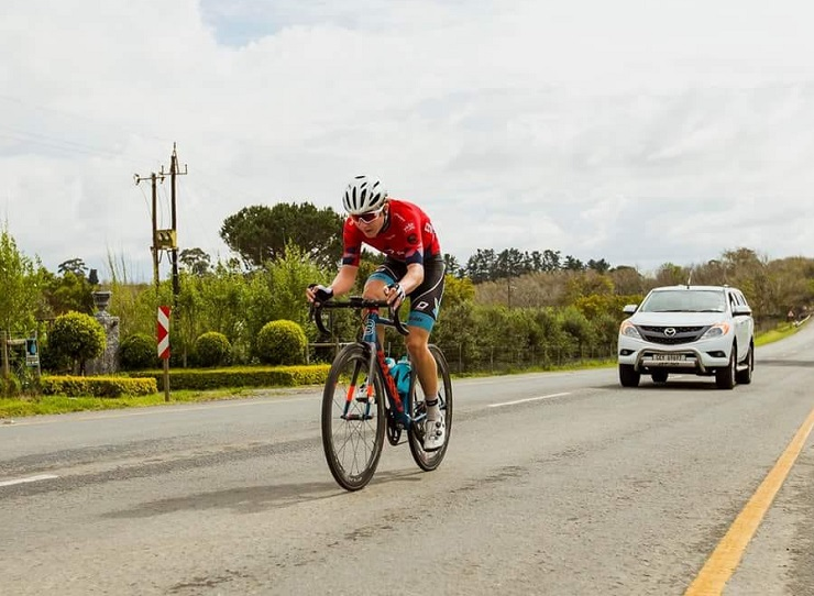 South African Byron Munton (pictured) is happy to have taken a step closer to joining the WorldTour ranks after making it into the Zwift Academy semifinals. Photo: Double ST
