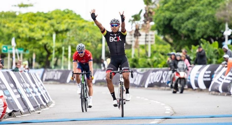 Nolan Hoffman was delighted to claim his second major one-day classic victory of the season when he came up trumps in the 106km Amashova Durban Classic yesterday. Photo: The Digital Media Collective