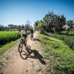 Mountain bikers enjoying the scenic route at the 947 MTB Challenge
