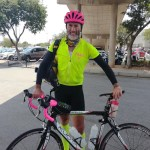David Kleynhans (pictured) cycled a total 3 303km from his home town to Pretoria and back this month in a bid to raise funds for the elderly. Photo: Facebook/Awareness 8 Support 4 Frailcare