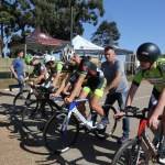 Riders lined up before competing in the Interprovincial Track Championships on Sunday. Photo: Cycle Nation