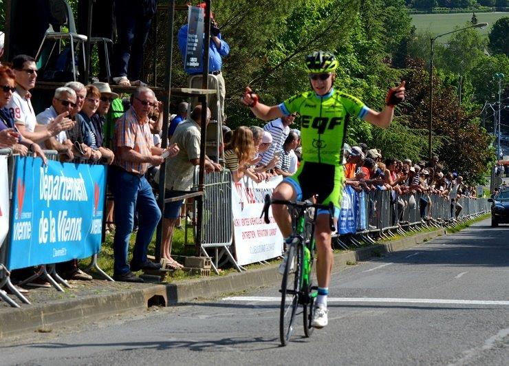 Morne van Niekerk pictured in action for the French-based Sud Ouest Cycliste Formation-Team Christian Magimel earlier this year. Photo: Amelie Barbotin