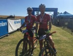 Piotr Brzozka and Mariusz Kozak won the men's team race on the second stage and with it, clinched the Sanlam MTB Invitational title when the race finished in Rhebokskloof today. Photo: Supplied