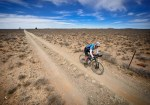 A rider moving through an arid area during The Munga yesterday. Photo: Erik Vermeulen