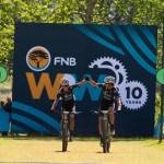 Wessel Botha (left) and Matthew Beers won stage one of the Wines2Whales Shiraz