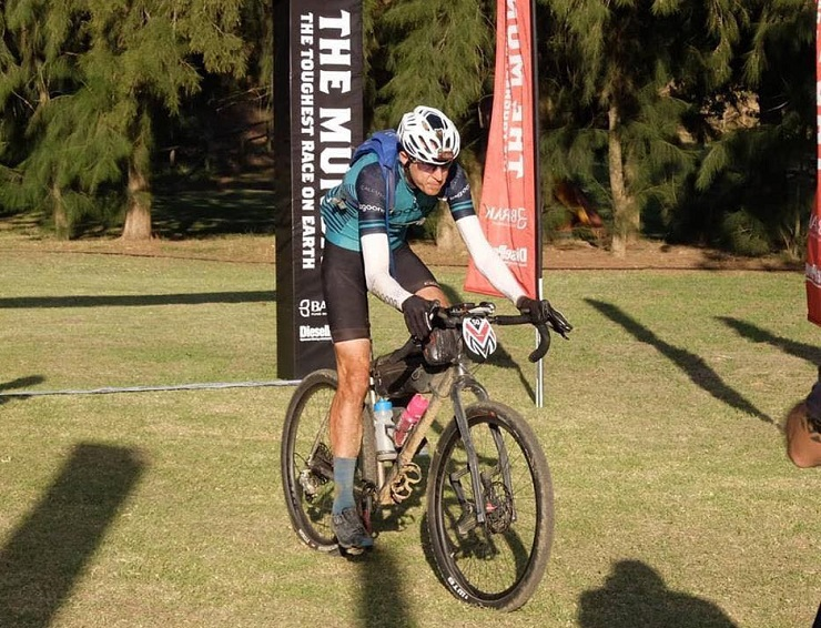 "Heinrich Visser said he was ""super stoked"" with his result at The Munga ultra-endurance mountain-bike race at the weekend. Photo: Facebook/Elza Visser"