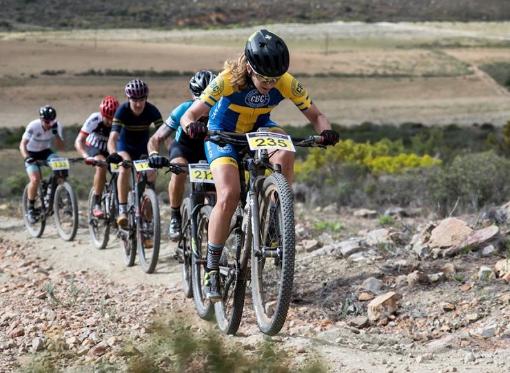 Six-time Swedish marathon champion Jennie Stenerhag (front) will hope to reignite her season when she tackles the Race2Nowhere mountain-bike race. Photo: Supplied
