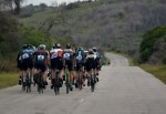 A shot from behind of a bunch of cyclists during the Steak Race. Photo: Sakkie/Masterspe