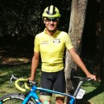 Damon Fouchee pictured in his yellow jersey at the Mpumalanga Tour juniors & vets category. Photo: Supplied