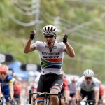 Mitchelton-Scott's Daryl Impey pictured winning stage four of the Tour Down Under last week. Photo: Chris Auld/Tour Down Under