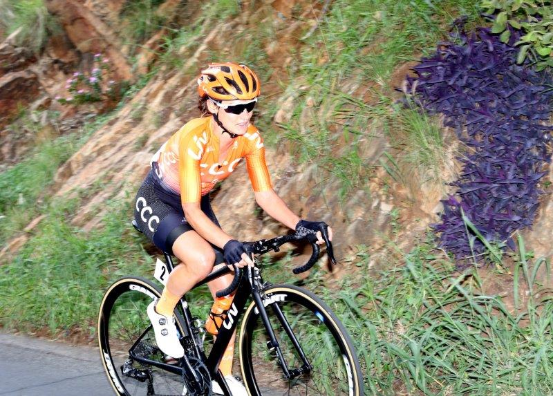 Ashleigh Moolman Pasio at SA road champs