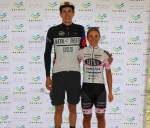 Andre Nelson (left) and Anriette Schoeman won the respective men's and women's races at the Bay by Bike MTB Race