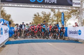 Riders awaiting the start of the opening stage of the Tour of Good Hope. Photo: Henk Neuhoff Photography