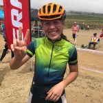 Bernice van Wyk overcame numerous obstacles before ultimately carrying her bike across the finish line at the Lydenburg Heritage MTB Race