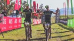 Andrew Hill (left) and Shaun-Nick Bester won the men's team race on day seven of joBerg2c