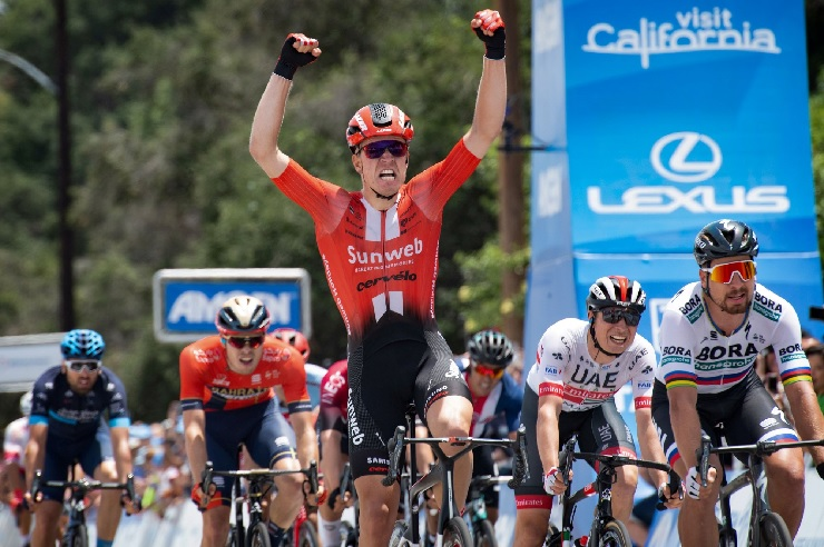 Cees Bol, pictured winning the final 2019 Tour of California stage