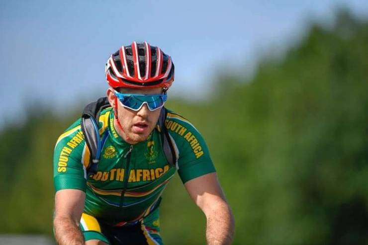 Goldy Fuchs finished eighth in the men's T2 time-trial at the Para-Cycling Road World Cup