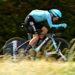 Jakob Fuglsang on stage four of the 2019 Criterium du Dauphine