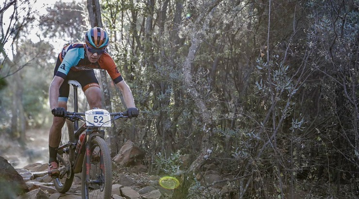 Henry Liebenberg won the U23 race at the South African XCO Championships