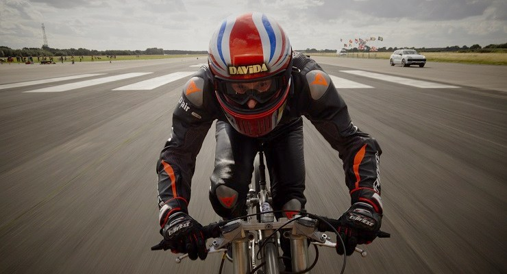 Neil Campbell set a new men's cycling world speed record