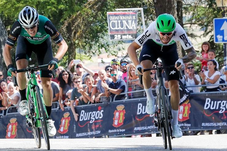 Giacomo Nizzolo won stage one of the Vuelta a Burgos