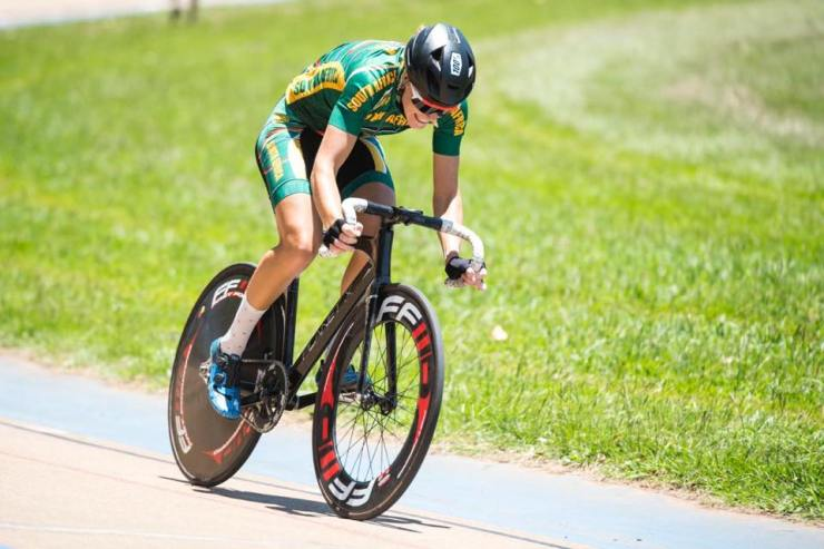 Maroesjka Matthee received Western Province track cycling colours