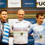 Martin van Wyk won silver in his scratch race at the UCI Masters Track World Championships