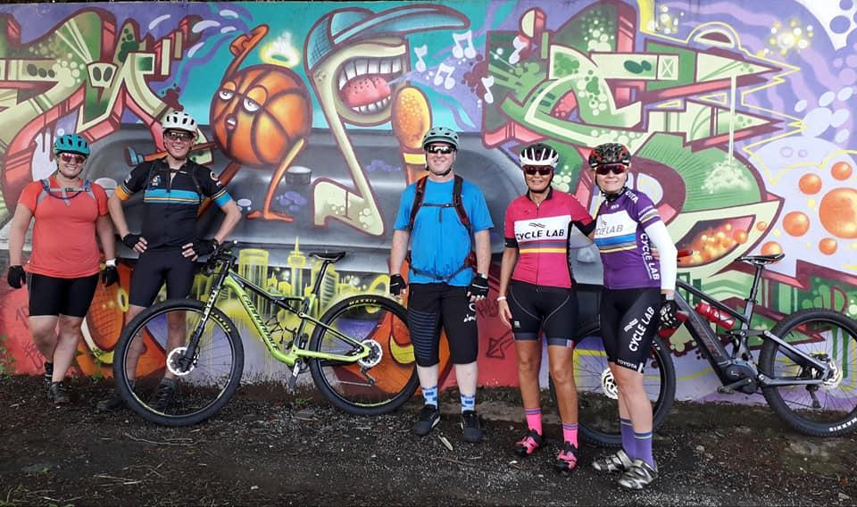 One of the many graffiti walls seen on the first ride.