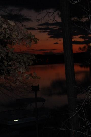 Sunset over lake, Sanford, NC