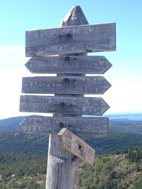 Signs; Acadia National Park
