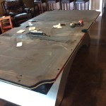 Re-cloth Olhausen Waterfall Pool Table, Newton, Mass