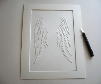 Angel Wings A4 papercut