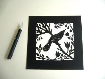 Bird in Spring (black)