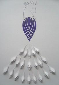 Peacock A4 papercut. Alternative design.