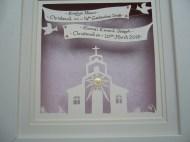 Christening papercut x2 banner