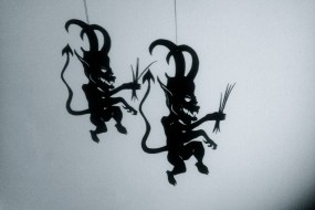 Krampus shadow puppet