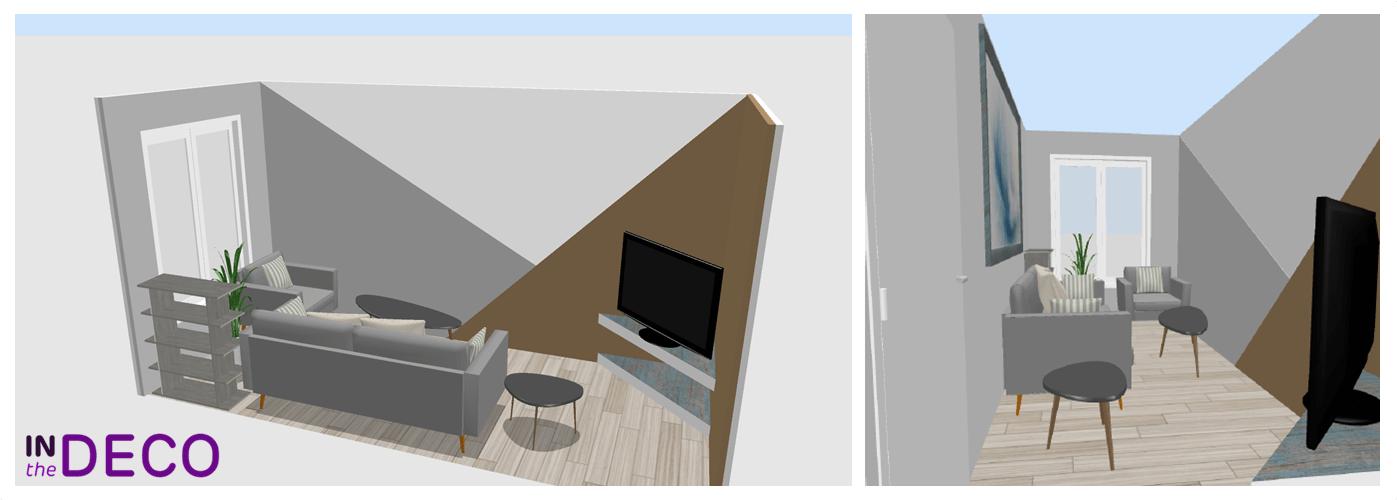un salon en longueur