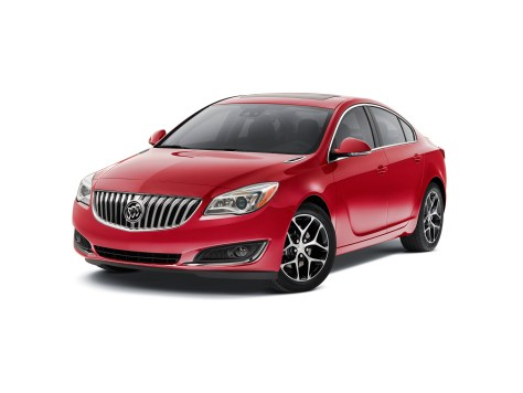 """2016 Buick Regal Sport Touring – features special 18-inch wheels with machined faces and black """"pockets,"""" a rear spoiler, Buick IntelliLink with Apple CarPlay capability and OnStar 4G LTE connectivity with Wi-Fi hotspot."""
