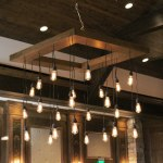 Edison Bulb Chandelier In The Event