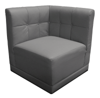 Gray Corner Chair | Event Rentals
