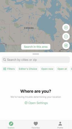Vegan Maps app