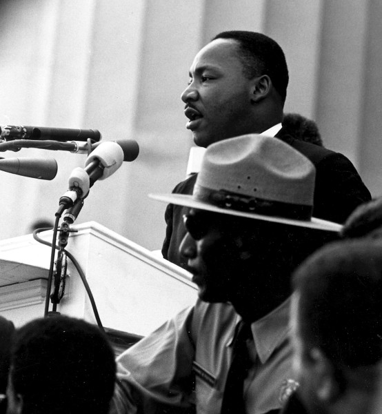 Martin Luther King at podium