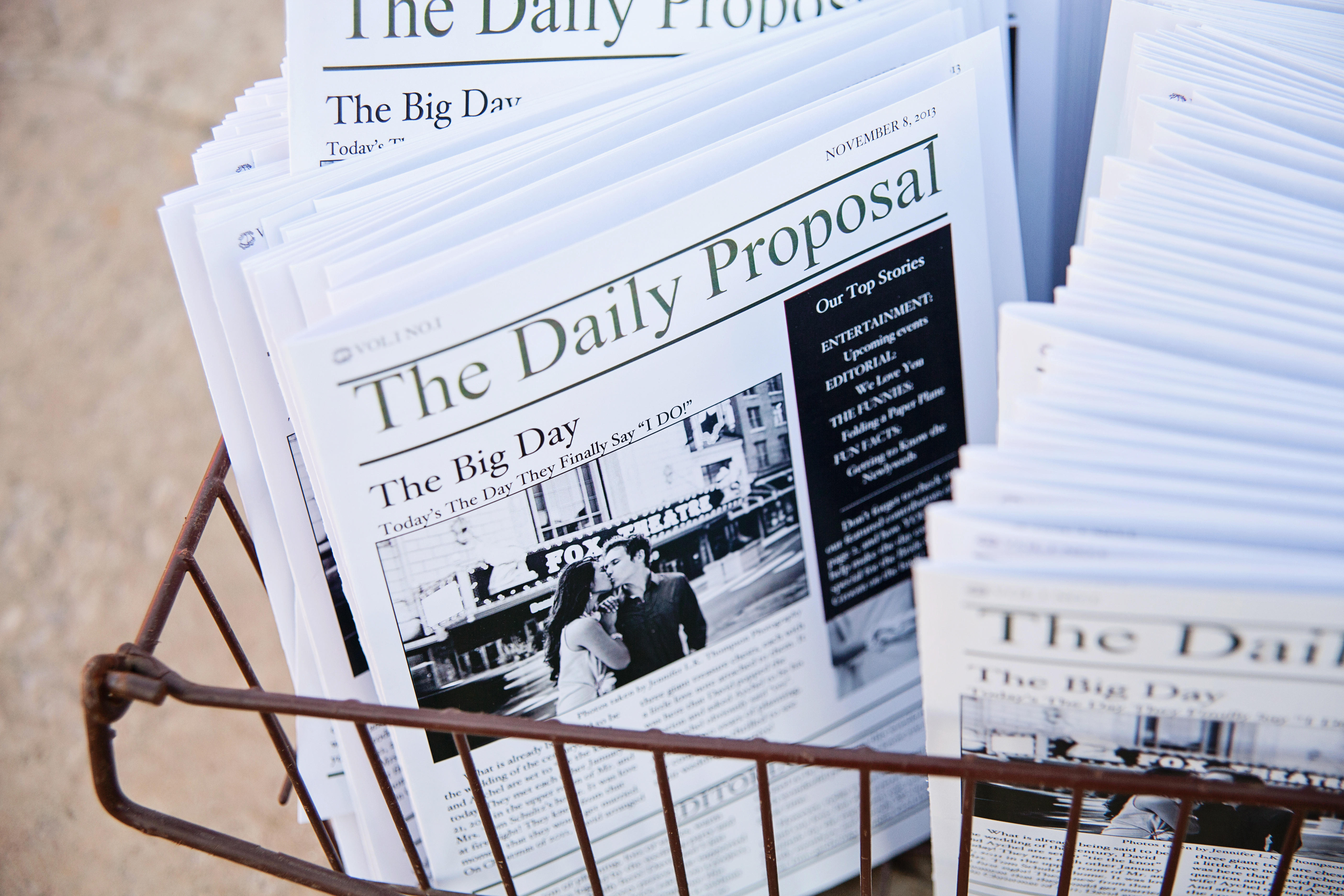 Freebie*** DIY Newspaper Wedding Program Template - In The House Of ...