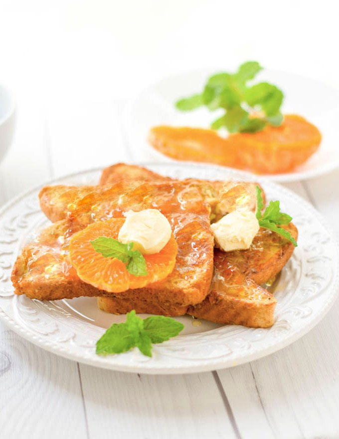 Homemade French Toast with orange Marmalade