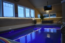 Residential Pool Lighting   LED Ribbon and Chandelier