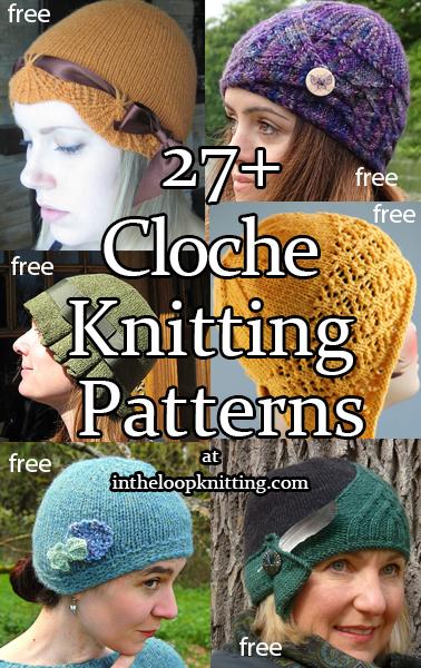 Free Cloche Hat Pattern : cloche, pattern, Cloche, Knitting, Patterns-