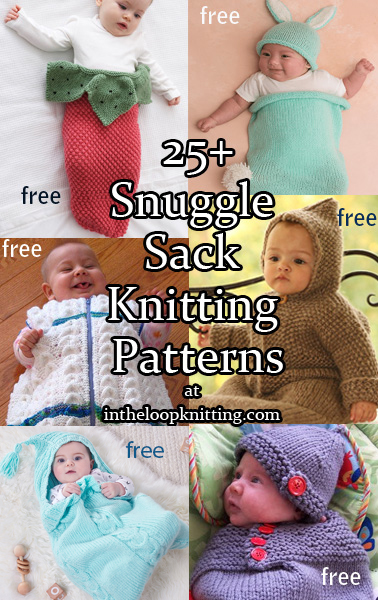 Baby Sleeping Bag Pattern : sleeping, pattern, Cocoon,, Snuggly,, Sleep, Sack,, Knitting, Patterns