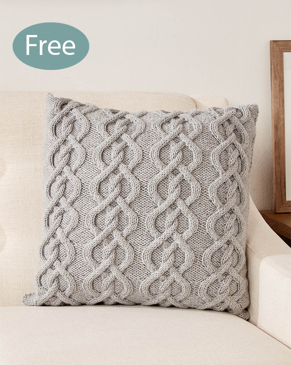 free cat cushion cover to knit # 29