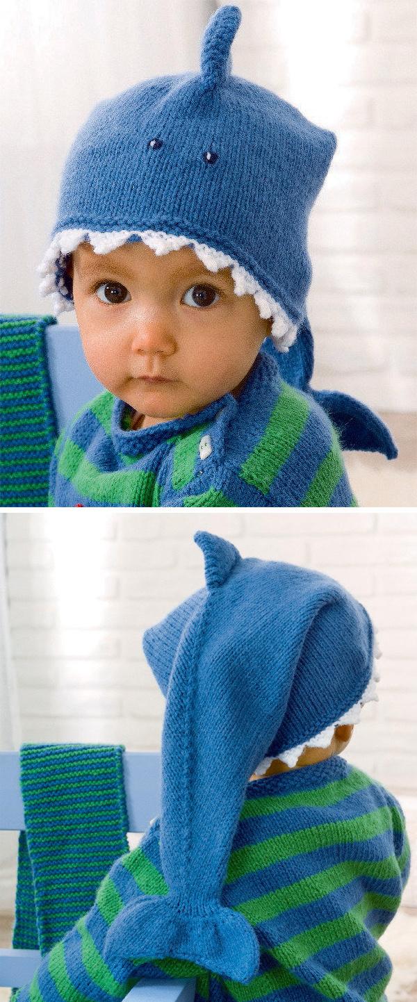 Free Crochet Baby Shark Hat - Top Crochet Pattern
